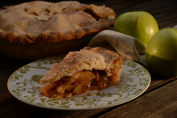 Apple pie, part of a fall recipe package, on September 15, 2016 in Denver, Colorado.