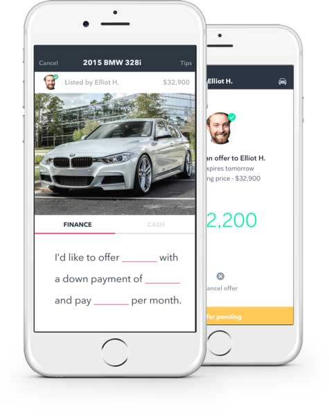 buying and selling a car on an app heck yeah blinker is from denver the denver post. Black Bedroom Furniture Sets. Home Design Ideas