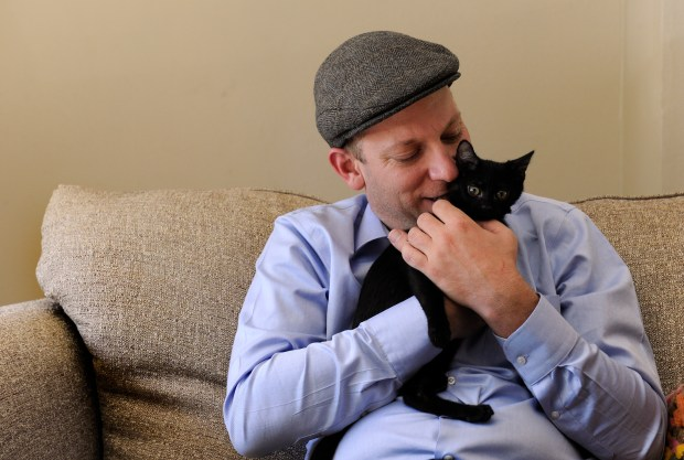 Now living in his own home in Aurora, Adam Goldstein was able to get some new roommates -- his two new kittens. Goldstein has been in his own home in Aurora for about one year after having to move back in and live with his father for a short period of time.
