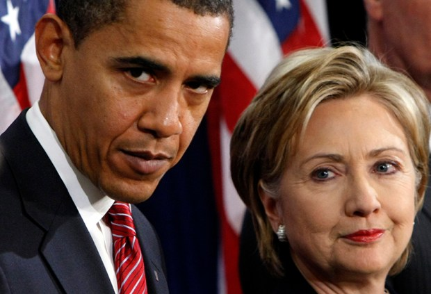 "In this Dec. 1, 2008, file photo, President-elect Barack Obama stands with Sen. Hillary Clinton after announcing that she was his choice as secretary of state. When the two were vying for the Democratic presidential nomination earlier that year, Obama said of some voters: ""they cling to guns or religion or antipathy toward people who aren't like them."""
