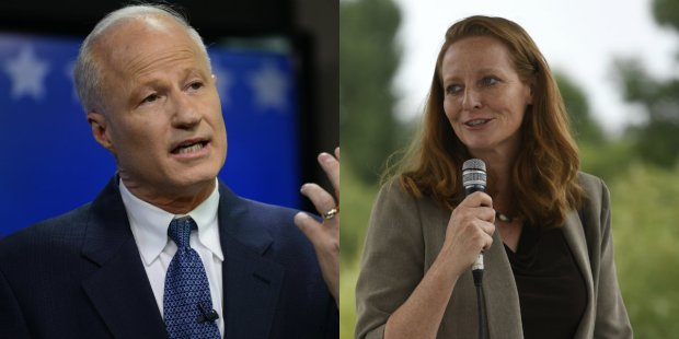 U.S. Rep. Mike Coffman, left, and Democratic challenger Morgan Carroll, a state senator.