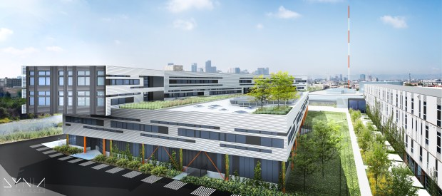 Denver's Taxi mixed-use development has begun construction on a new 140,000-square-foot office building to house Boa Technology.