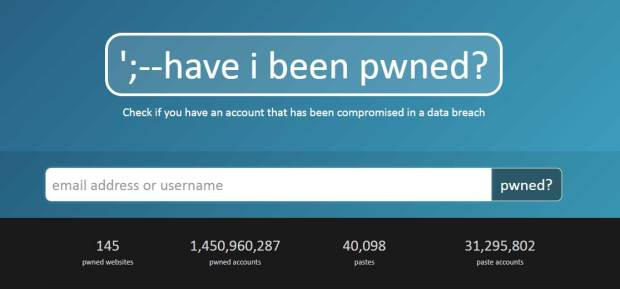 The HaveIBeenPwned.com site lets people check to see if their e-mails are part of any massive data breach in recent years. Troy Hunt, a Microsoft Regional Director and Most Valuable Professional awardee for Developer Security, blogs about security at troyhunt.com and operates the site as a public service.