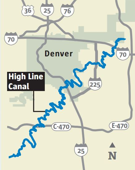 High Line Canal map