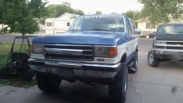 The Ford Bronco truck of Scott Burke.