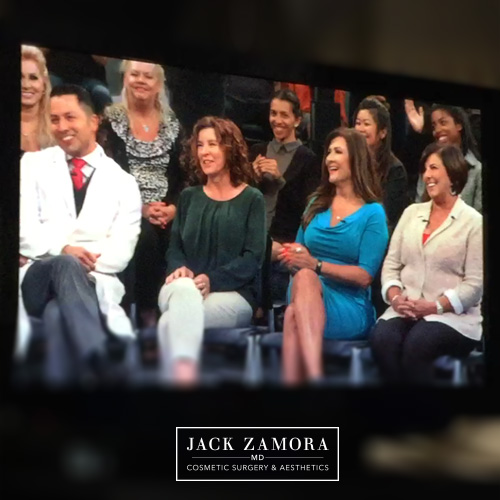 "From left: Dr. Jack Zamora, Donna White, Maria Portugal-Trujillo, and Carol Going are seen on ""The Doctors."""