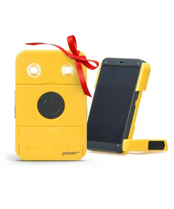 WakaWaka Power+ rugged solar charger and flashlight.