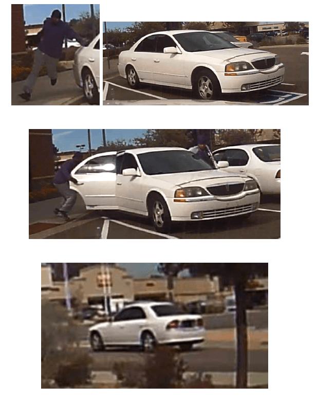 A photo of the suspects and their vehicle.