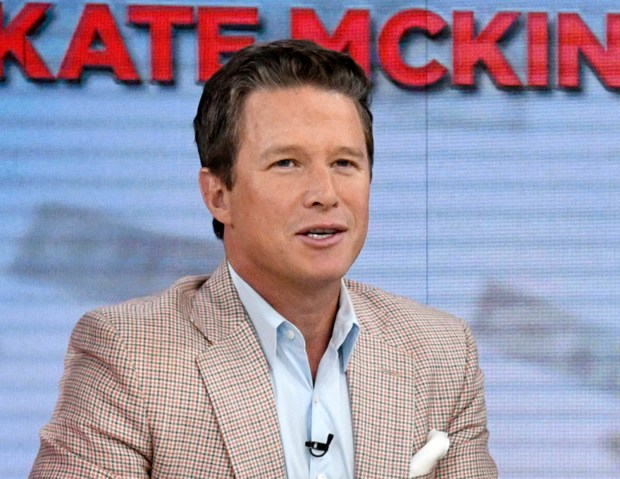 """In this Sept. 26, 2016 photo released by NBC, co-host Billy Bush appears on the """"Today"""" show in New York. Bush says he's """"embarrassed and ashamed"""" by a 2005 conversation he had with Donald Trump in which Trump made lewd comments about women. Bush, then a host of the entertainment news show """"Access Hollywood,"""" was chatting with Trump as the businessman waited to make a cameo appearance on a soap opera. In a statement Friday, Oct. 7, Bush says he was younger and less mature when the incident occurred, adding that he """"acted foolishly in playing along."""""""