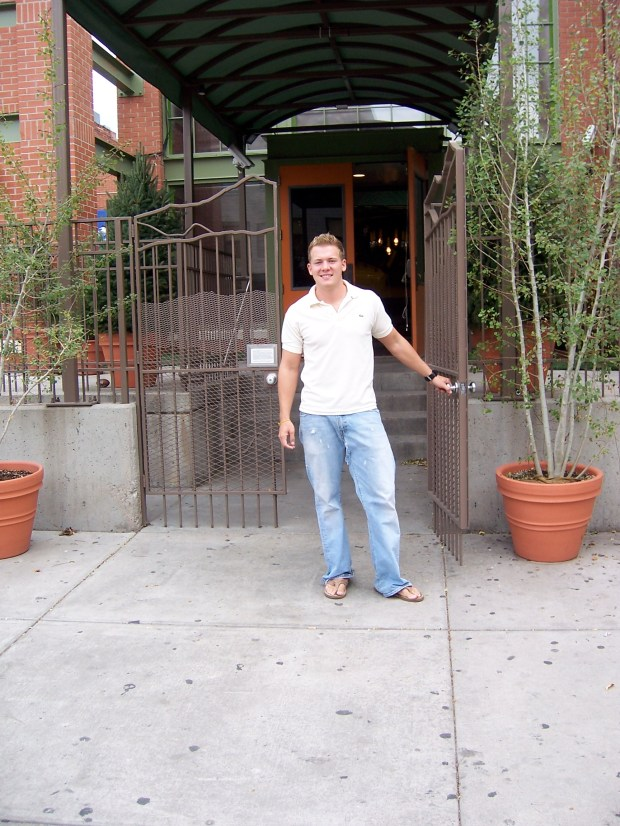 """The Real World: Denver"" cast member Davis Mallory poses outside the MTV show's homebase at 1920 Market St. in 2006."