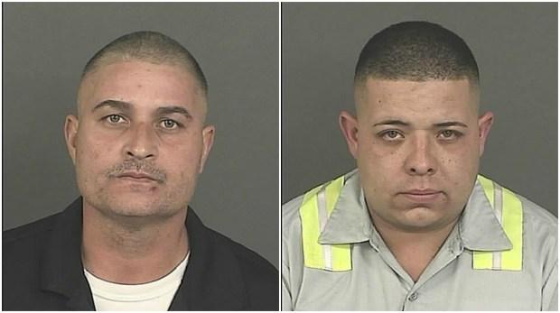 Billy McCaslin, 40, and Sergio Irreza, 31.