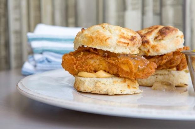 Chicken biscuit at Low Country Kitchen.
