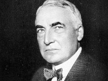 President Warren G. Harding, circa 1921. Photo by Underwood and Underwood