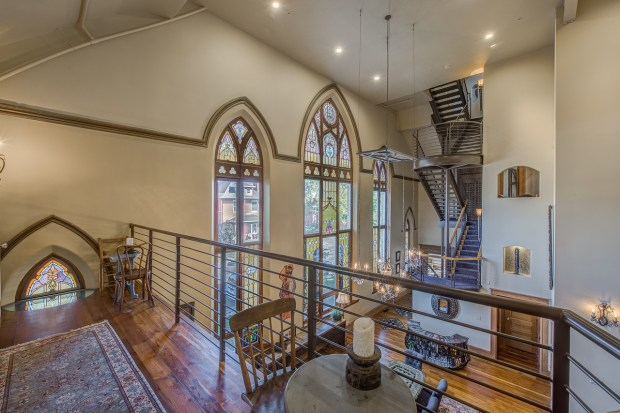 Church Turned Condo Features Stained Glass Windows