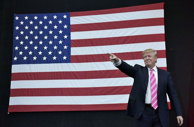 """President-elect Donald Trump said Tuesday on Twitter: """"Nobody should be allowed to burn the American flag -- if they do, there must be consequences -- perhaps loss of citizenship or year in jail!"""""""