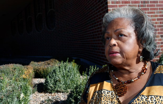 In this Thursday, Nov. 10, 2016, photo, sister Lee McNeil talks about her efforts to eliminate an archaic and offensive reference to slavery, as a punishment for a crime in the state constitution through an amendment on the general election ballot during an interview outside Shorter Community A.M.E. Church, in Denver.