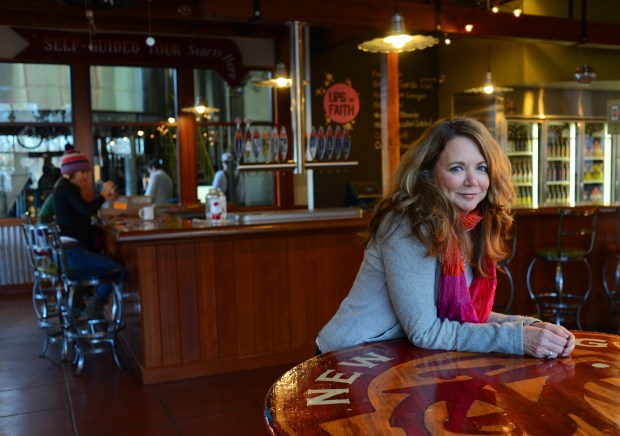 This 2012 file photo shows Kim Jordan, the CEO of New Belgium Brewing Co. in Fort Collin.