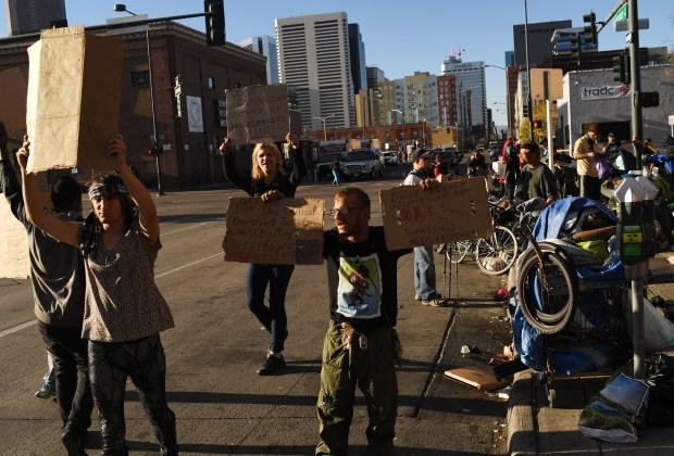 Homeless sweeps in Denver