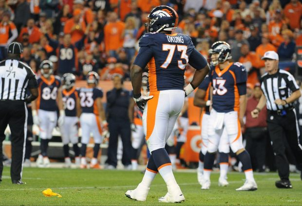 Denver Broncos tackle Russell Okung