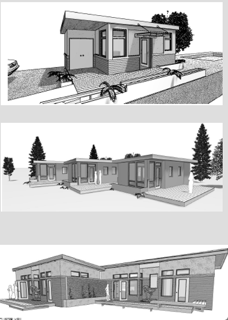 Sprout Tiny Homes artist rendition of tiny homes with foundations, like those it plans to develop in Salida. Courtesy Sprout Tiny Homes
