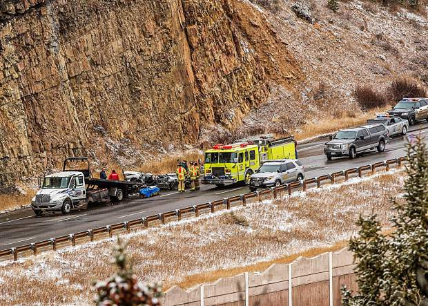 A driver died late Thursday morning after plunging more than 100 feet from the cliffs on Ptarmigan Trail Road in Silverthorne.