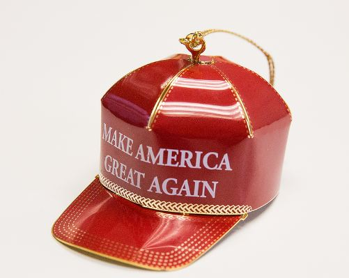The Make America Great Again Christmas ornament.