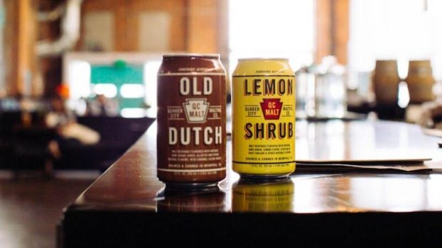 Two flavors of Quaker City Malts. Old Dutch is a play on the original root beer recipe and Lemon Shrub is a refreshing, tart sipper.