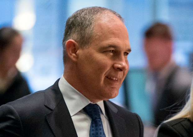Oklahoma Attorney General Scott Pruitt arrives at Trump Tower in New York on Dec. 7. Pruitt is President-elect Donald Trump's choice to lead the Environmental Protection Agency.