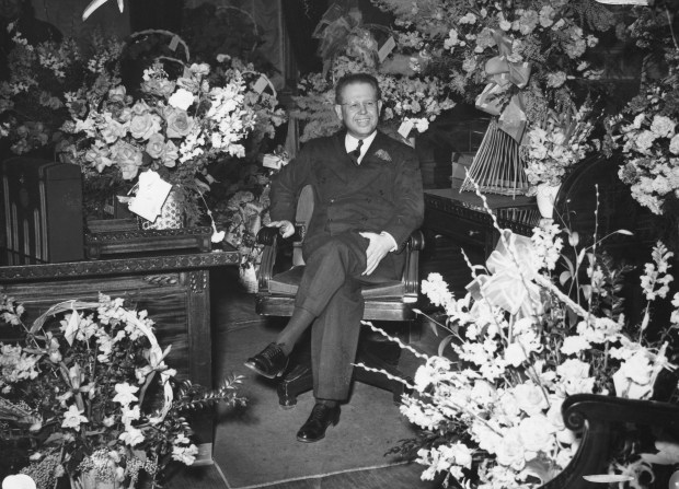 Ralph L. Carr after being sworn in, 1939.