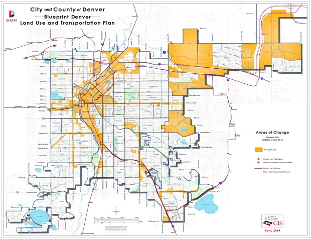 "Denver's 2002 Blueprint Denver plan included a map that designated 82 percent of the city as an ""area of stability"" and 18 percent as an ""area of change."" Those latter areas have been the site of 67 percent of new housing development since then, city figures show."