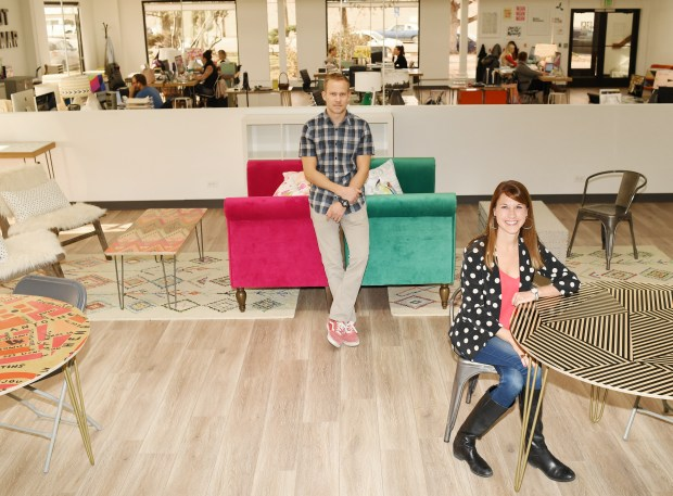 Deny Designs co-founders Dustin and Kim Nyhus are at their new headquarters in Englewood, December 01, 2016.