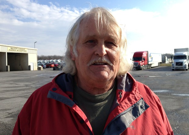 Truck driver Bill Varnado of Dallas, Ga., talks at a truck stop along Interstate 81 in Hagerstown, Md., on Dec. 7, 2016. He says he opposes Congress suspending a requirement for truckers to take two nights off to rest after a work week of up to 75 hours.