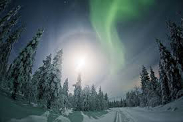 The Northern Lights as seen in arctic Finland.