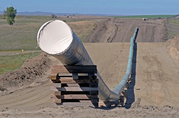 A section of the Dakota Access Pipeline