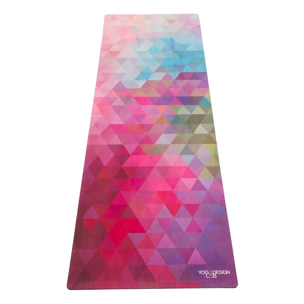 This mat from Yoga Design Lab shows their Tribeca Sand Combo.