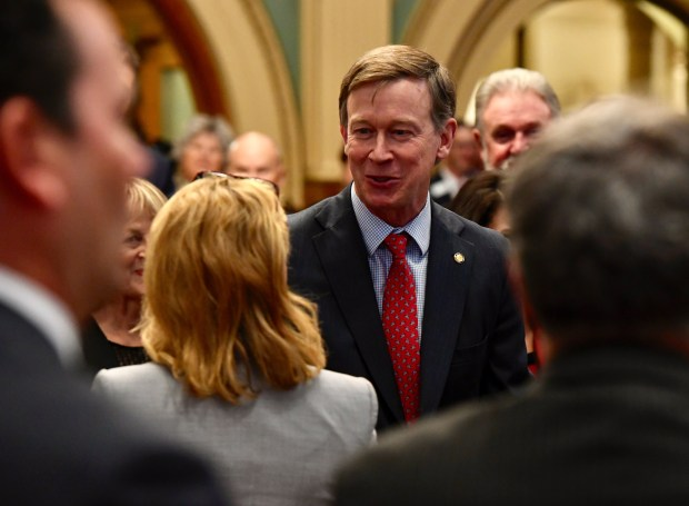 Colorado governor John Hickenlooper after delivering the State of the State address from the Colorado State Capitol in Denver on Jan. 12, 2017.