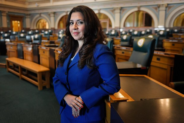 Crisanta Duran, the new Speaker of the House. She's the first Latina House Speaker in Colorado history at the Colorado State Capitol. Dec. 30, 2016 in Denver.