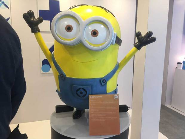 Qualcomm Minion -- Battery-powered minion isn't really a robot. But the battery-powered toy from Tend Insights uses Qualcomm's Always-On Vision Module to interact with people based on what it sees.