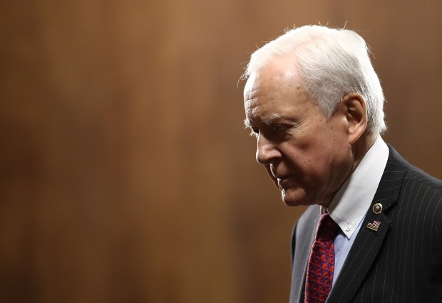 Sen. Orrin Hatch (R-UT) arrives for ...