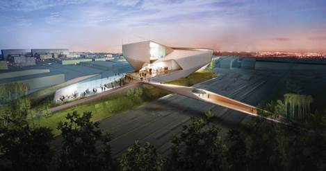 A rendering of the $75 million museum planned in Colorado Springs with Regional Tourism Act support.