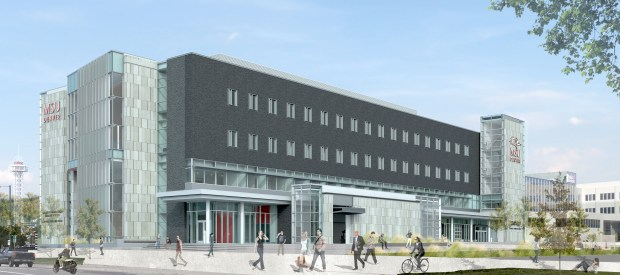 The new Aerospace and Engineering Sciences building at Metro State University of Denver will house the new Advanced Manufacturing Sciences Institute. The first private tenant is York Space Systems, which aims to mass produce 150 to 200 small satellites a year.