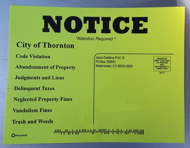 City Of Thornton Property Taxes