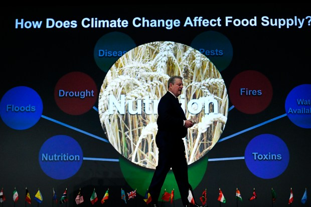 Al Gore speaks during his Climate Reality Leadership Corps training at the Colorado Convention Center March 2, 2017 in Denver.