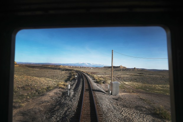 Amtrak's California Zephyr rolls along the ...