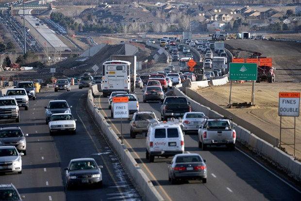 Traffic moves along U.S. 36 in Westminster on Feb. 13, 2014.
