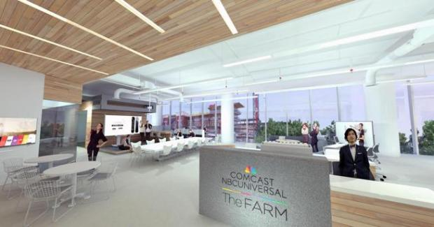 An artist's rendering of Comcast NBC Universal's The Farm, a startup accelerator in Atlanta that will be run by Boulder's Boomtown.