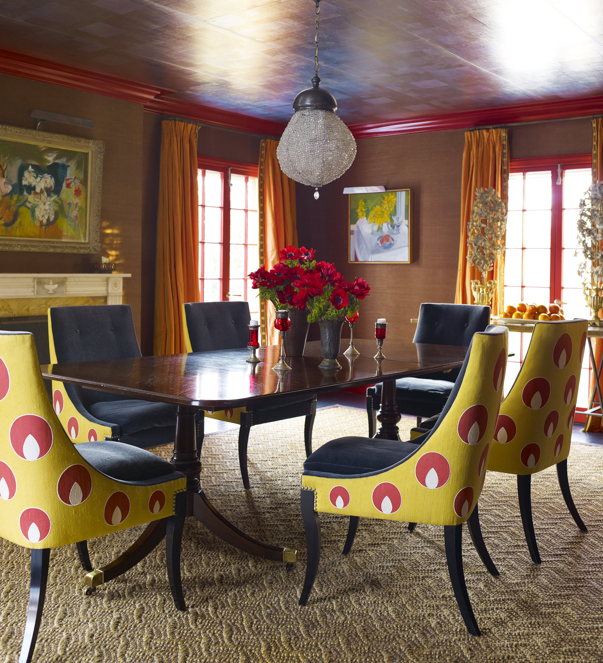 Katie Ridder And Peter Pennoyeru0027s Dramatic Dining Room At Their House In  Westchester, ...