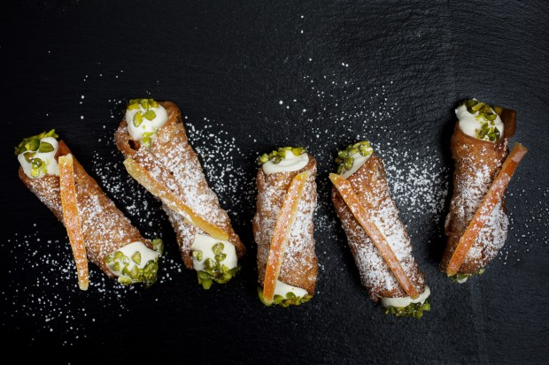 """""""Cannoli"""" is plural because you'll want more than one ..."""