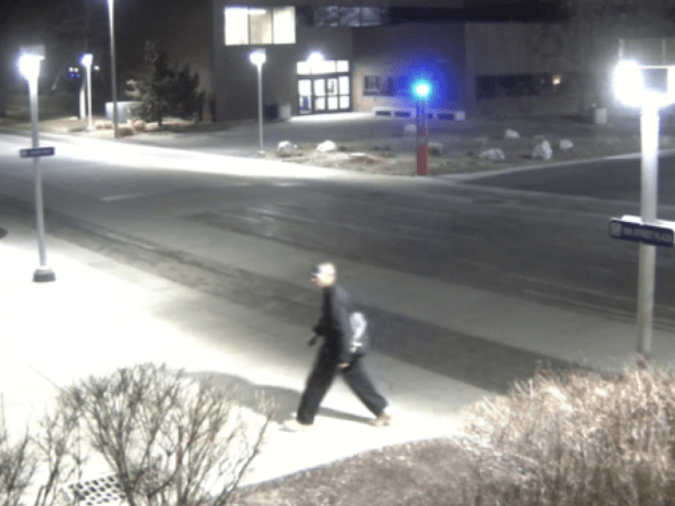 Police are looking for a man they say set multiple fires on the Auraria Campus. His image was caught on surveillance video.