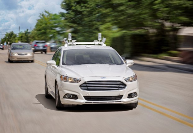 Self-driving Ford Fusion Hybrid sedans